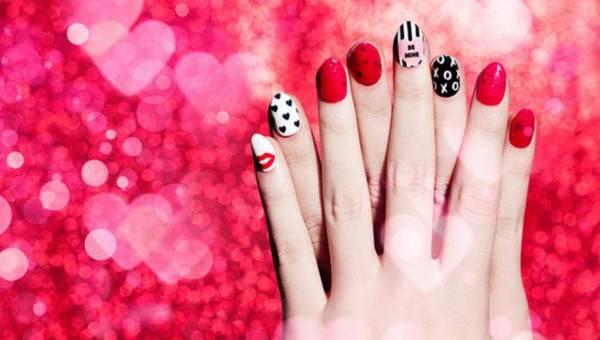Manicure na walentynki od NCLA