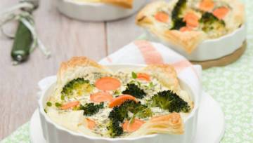 Proste danie: Quiche z brokułami i marchewką