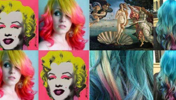 Fryzjerka – artystka farbuje włosy inspirowane słynnymi dziełami malarstwa
