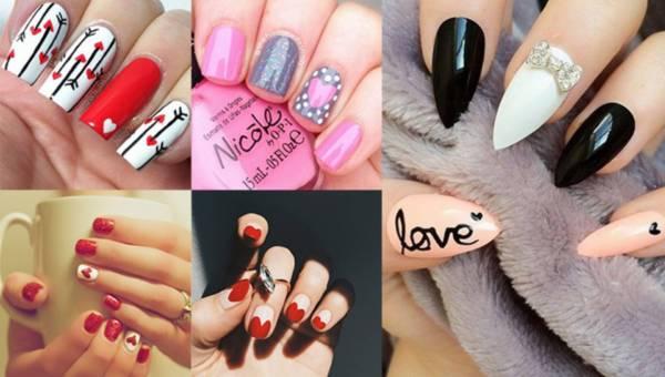 Pomysły na prosty walentynkowy manicure