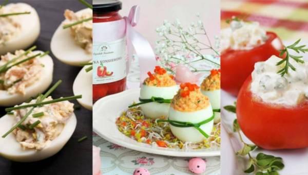 Sałatki na Wielkanoc – przepisy na faszerowane przystawki
