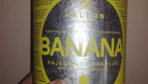 KALLOS BANANA, maska do włosów o zapachu bananowym