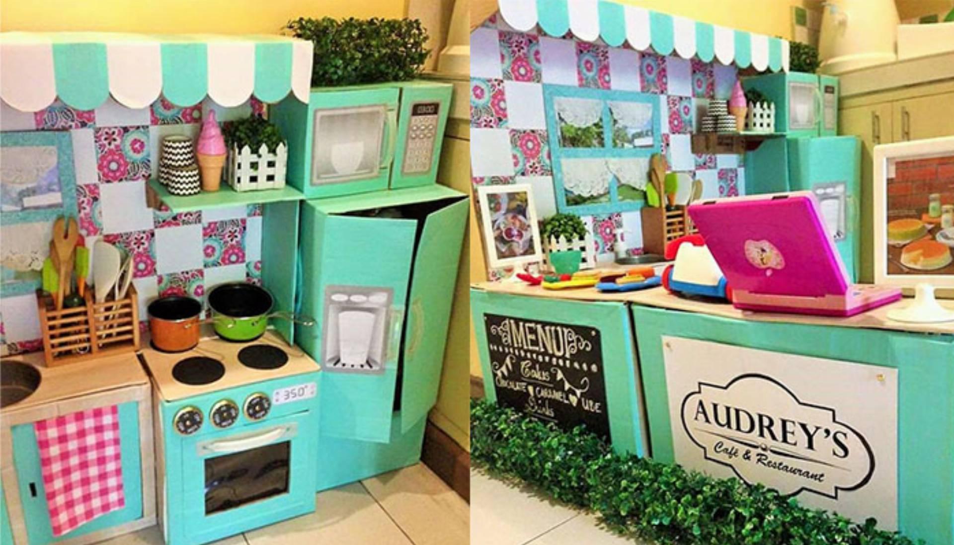 Inspiracjie DIY Zabawkowa kuchnia dla dziecka  KobietaMag pl -> Kuchnia Dla Dzieci Na Baterie