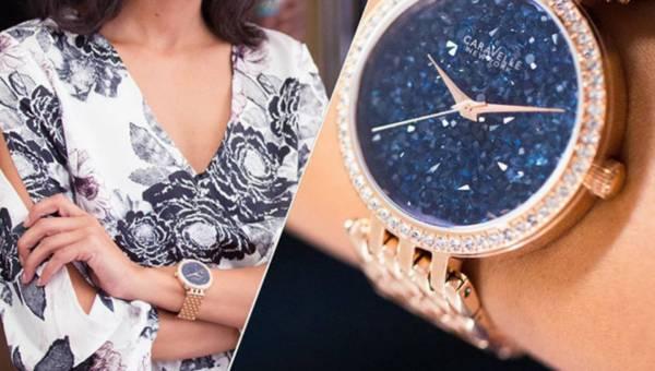 Kolekcja kryształowych zegarków Caravelle NYC