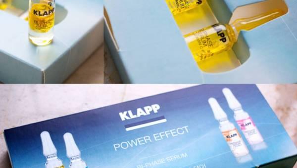 KLAPP Cosmetics, Pielęgnacyjne ampułki POWER EFFECT BI- PHASE SERUM+VITAMIN C