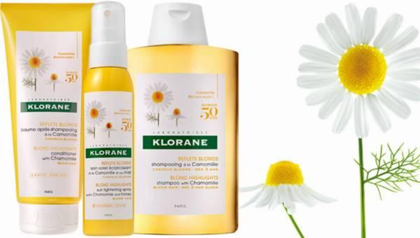 Rozjaśniająca kuracja do włosów – rumiankowa linia kosmetyków KLORANE
