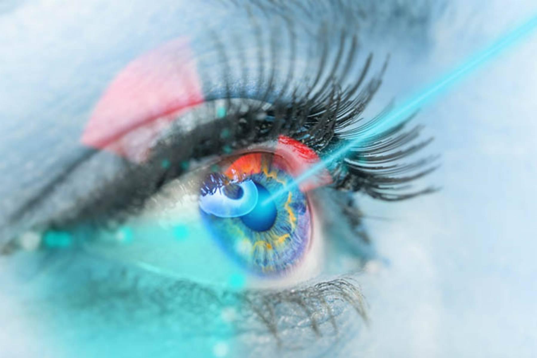Close up of a female eye