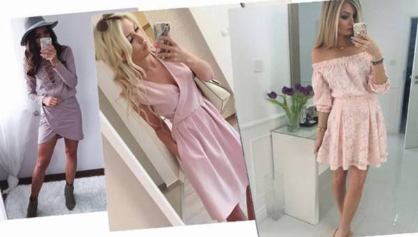 Modne sukienki na majówkę w pudrowym różu