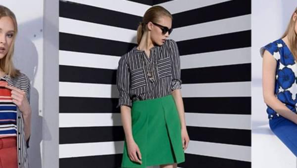 Linia Geometric stripes w kolekcji Top Secret wiosna 2016
