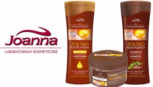 Jajeczne kosmetyki dla włosów farbowanych w linii Tradycyjna Receptura od Joanny