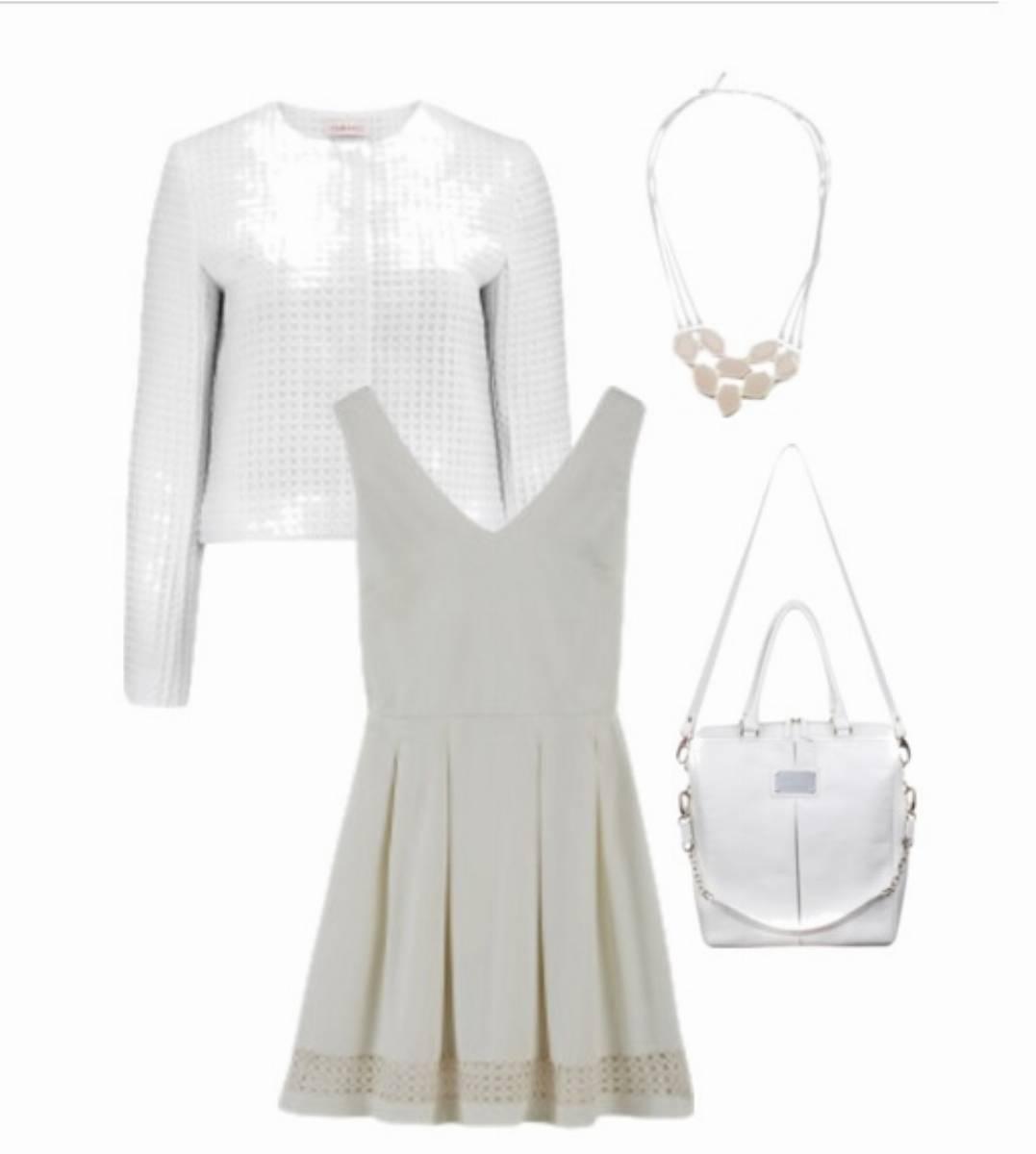 BialaSukienka4 - Biały Total Look
