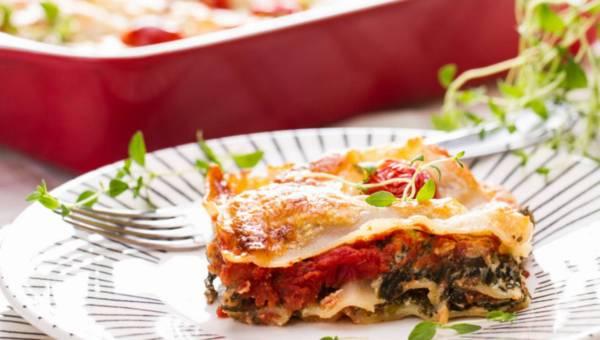 Przepis dla wegetarian: Lekka lasagne ze szpinakiem