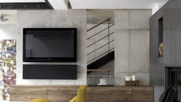 Szarość betonu w mieszkaniu