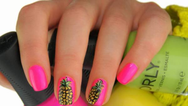 Wzroki na paznokcie na lato – z motywem ananasa – krok po kroku jak zrobić