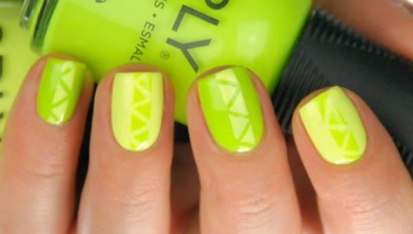 Wzroki na paznokcie na lato w kolorze limonki – tutorial