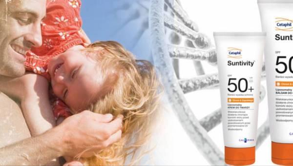 Wysoka ochrona skóry przed szkodliwym promieniowaniem z kosmetykami Cetaphil Suntivity