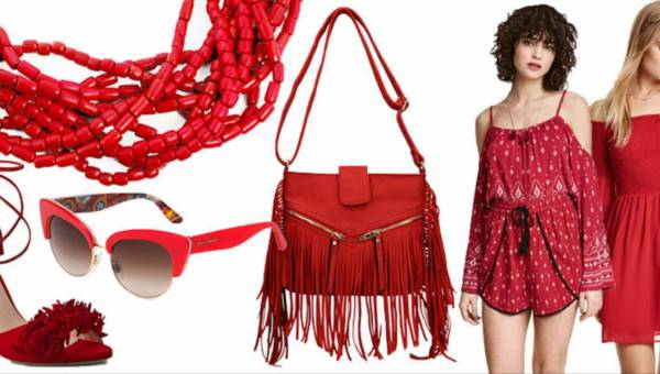 Shoppingowy przegląd: Czerwone ubrania i dodatki na lato 2016