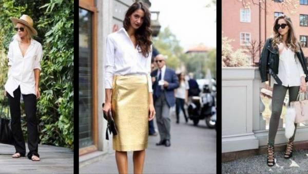 Modne stylizacje na lato: biała koszula nie musi być nudna