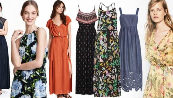 Shoppingowy przegląd – Modne sukienki maxi na lato 2016