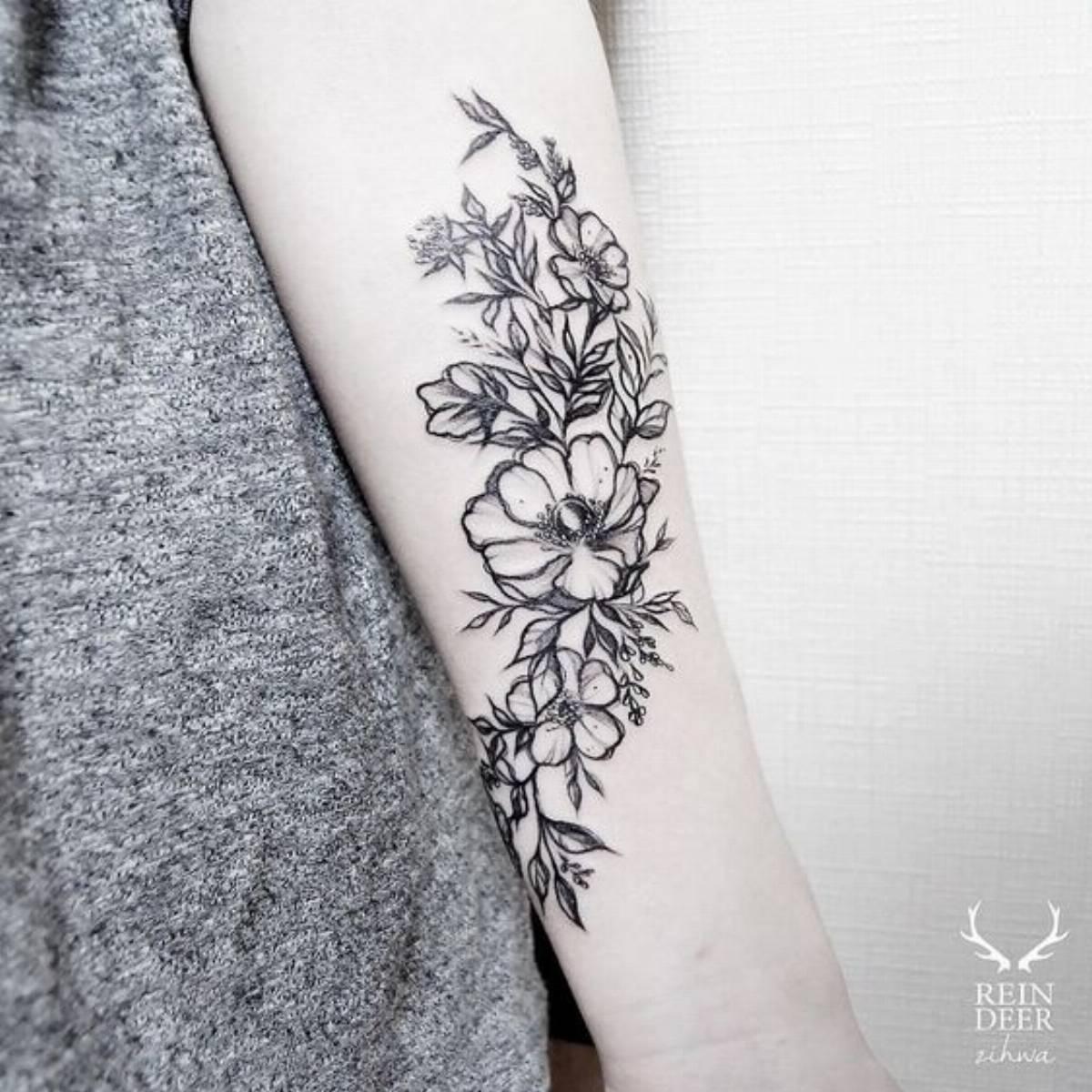 tatuaże w kwiaty (4)