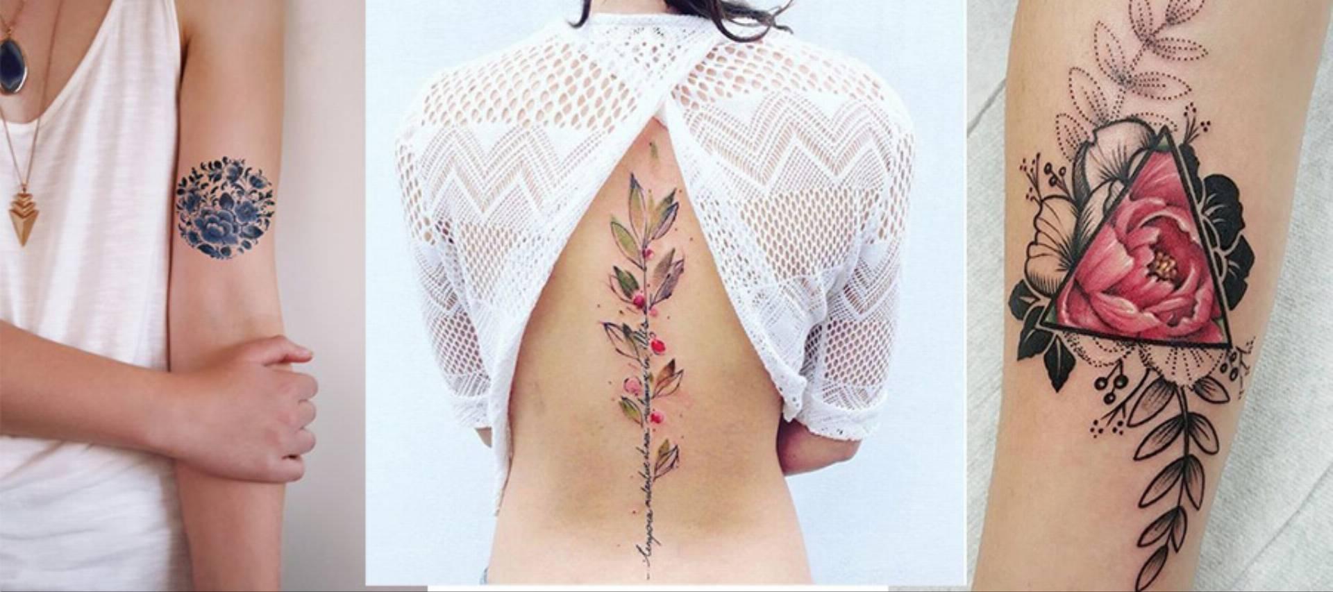 tatuaże w kwiaty log