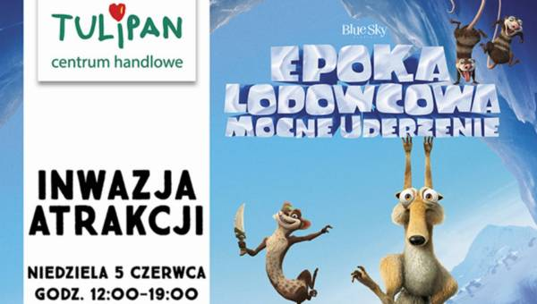 """""""Epoka lodowcowa: Mocne uderzenie"""" w Krakowie i Łodzi."""