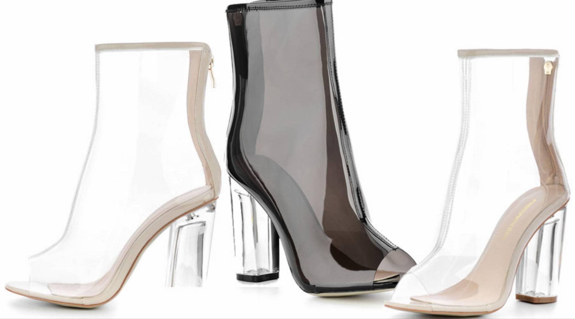 38ecf738 buty--z-pleksi. Niedawno w kolekcji PRIMAMODA zagościły supermodne botki  open-toe wykonane z pleksi. Dwie wersje kolorystyczne sprawiają, ...