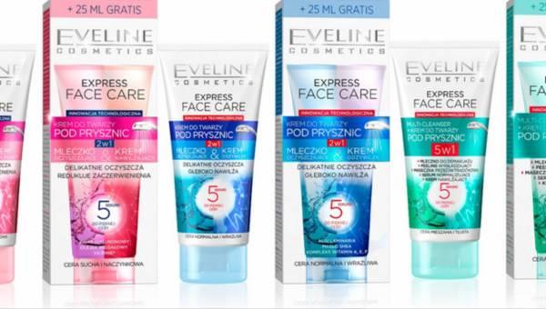 Kremy do twarzy pod prysznic od Eveline Cosmetics z serii Express Face Care