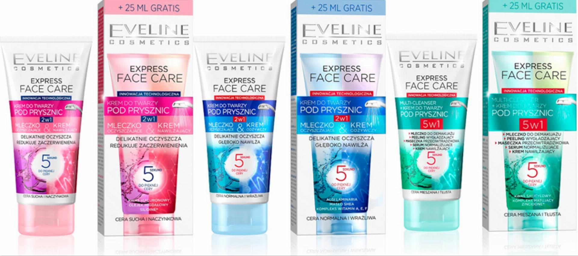 kremy do twarzy pod prysznic od eveline cosmetics