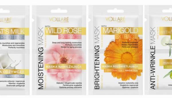 Pielęgnacyjne maseczki Vollare Cosmetics – dzika róża, oliwka, kozie mleko …
