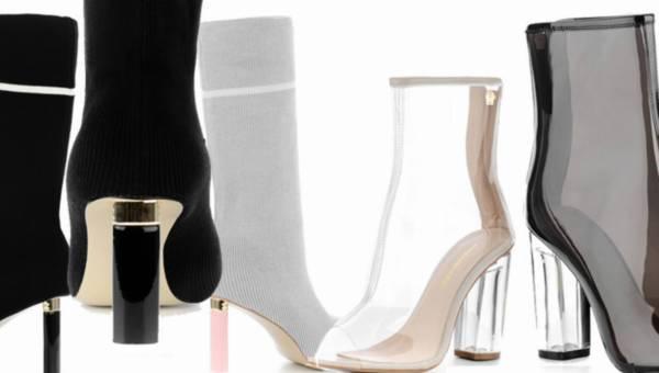 Buty Primamoda – najnowsze światowe trendy: buty z pleksi i buty imitujące skarpetki
