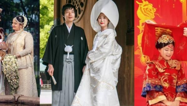 Jak wyglądają tradycyjne suknie ślubne na świecie? Niesamowicie!