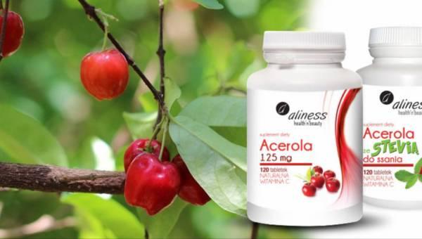 Suplement diety: Acerola, źródło witaminy C