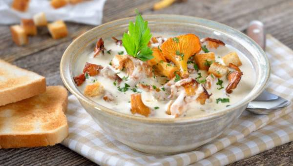 Zupa krem z kurkami