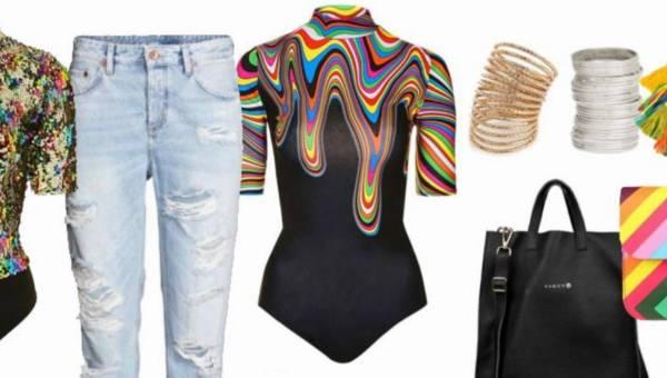 Modowe inspiracje: Tęczowe ubrania. Ekstrawagancja? Kicz?