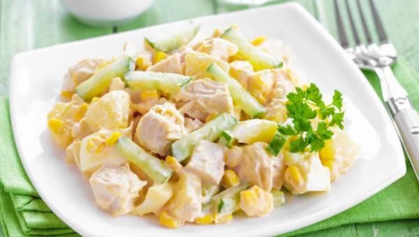 Kurczak na słodko z mandarynkami i ananasem