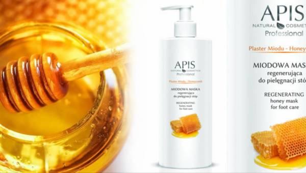 Maska miodowa Apis Natural Cosmetics do stóp z mleczkiem pszczelim i wit. A+E