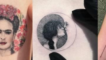 Pomysł na tatuaże kobiece: miniaturka w kole