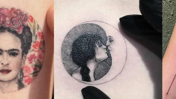 Pomysł na tatuaże damskie: miniaturka w kole