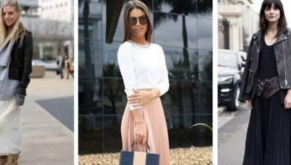 Plisowana spódnica – modne stylizacje