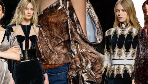 Aksamit – jeden z gorących trendów – moda jesień zima 2016 – 2017