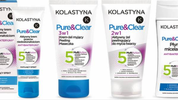 Nowa seria kosmetyków dla cery z problemami – KOLASTYNA PURE&CLEAR