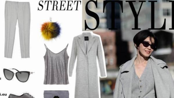 Modne stylizacje: Głęboka szarość – jeden z najmodniejszych kolorów jesieni