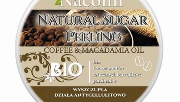 Nacomi, peeling cukrowy z kawą i olejkiem macadamia antycellulitowy