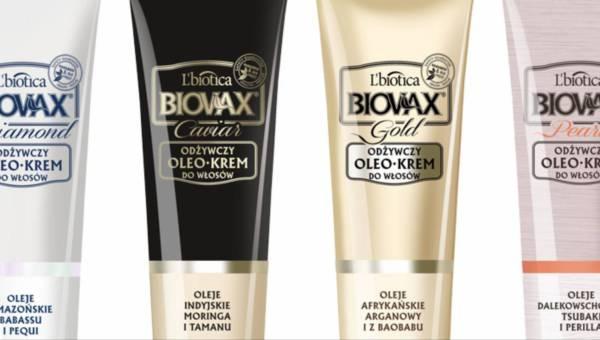 Odżywcze kremy do włosów OLEOKREM BIOVAX GLAMOUR