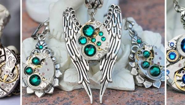 Steampunkowa biżuteria rodem z epoki wiktoriańskiej, która przenosi w inne czasy