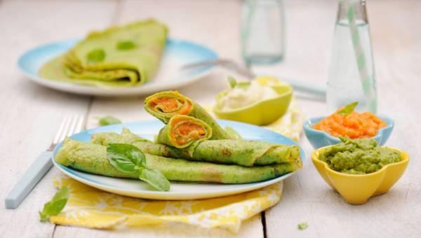 Zielone naleśniki z purée z warzyw!
