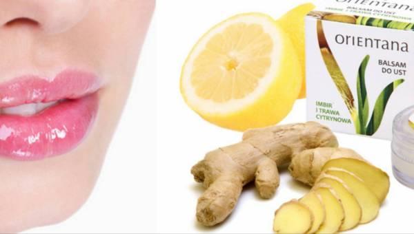 Naturalny balsam do ust Orientana z imbirem i trawą cytrynową