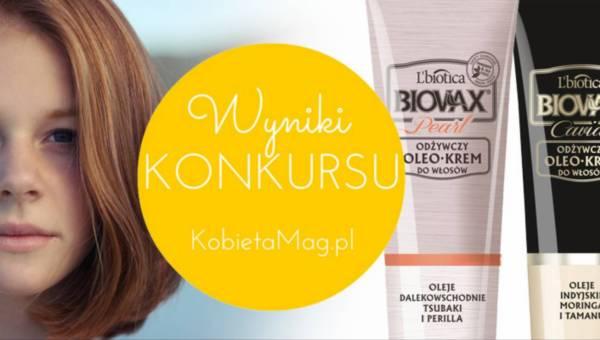Wyniki konkursu: Jesienna regeneracja włosów z linią OleoKrem BIOVAX Glamour