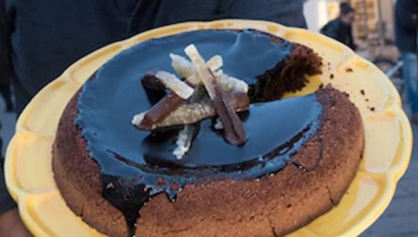 Ciasto Caprese z migdałami i czekoladą